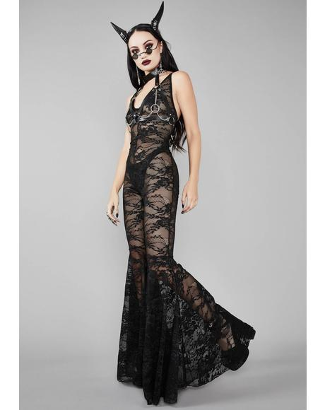 Witching Hour Lace Catsuit