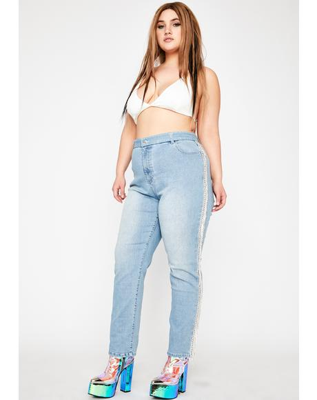 Infamous Rouge Rager Fringe Jeans