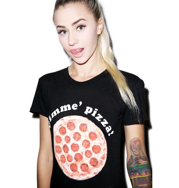 Wildfox Couture Gimme Pizza Tourist Crewneck Tee