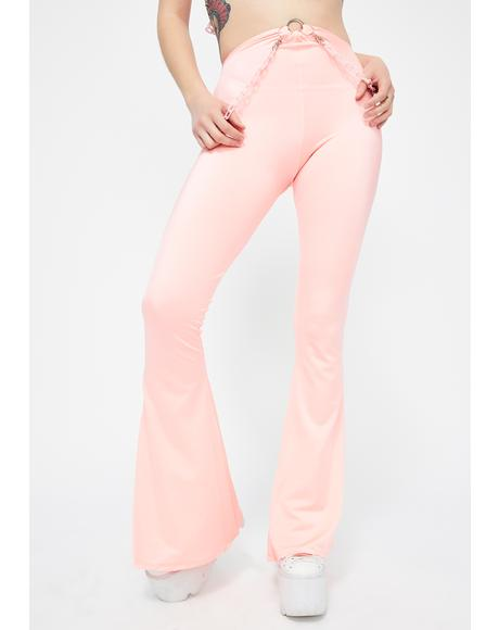 Coral Chain Flared Pants