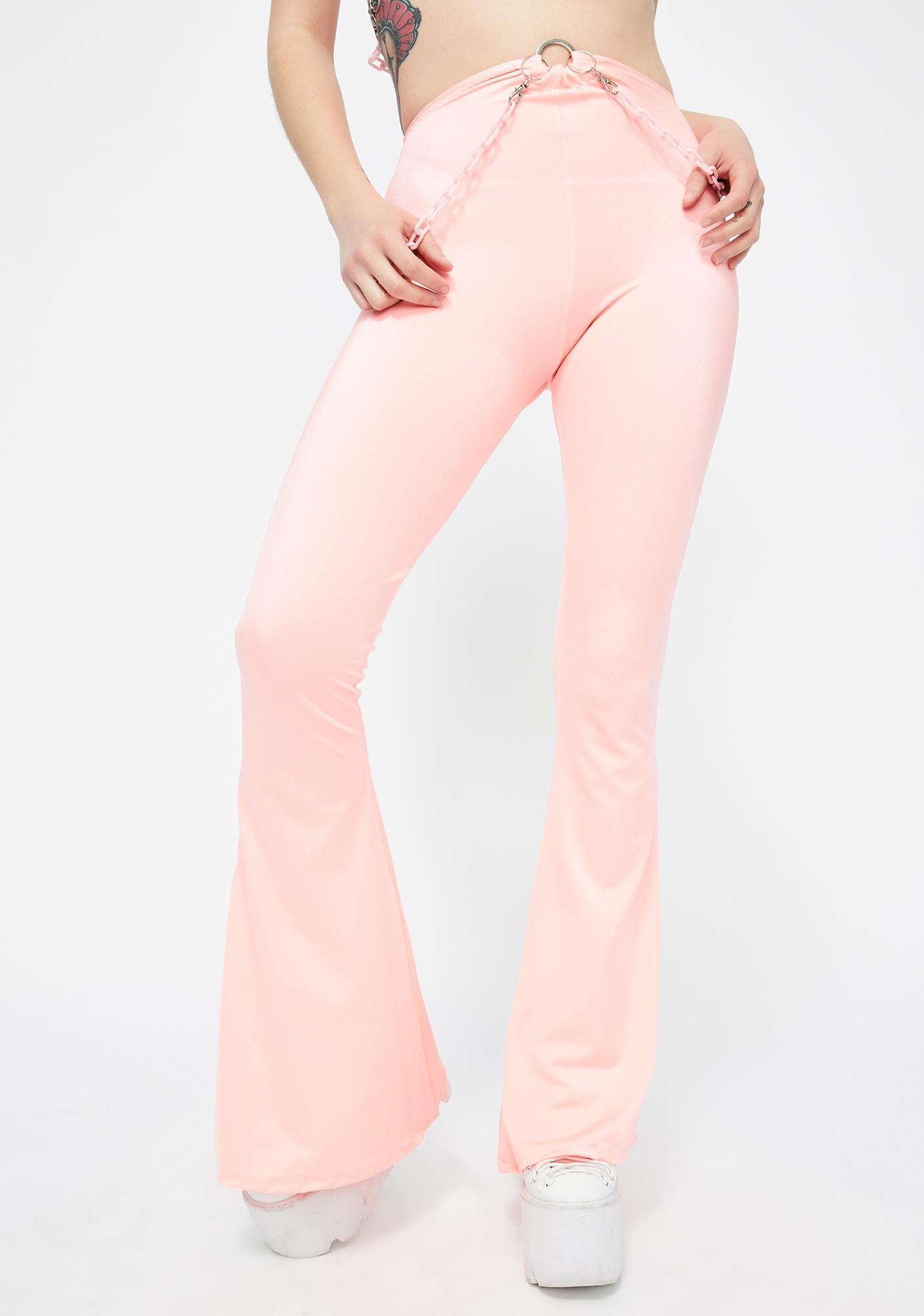 Babydol Clothing Coral Chain Flared Pants