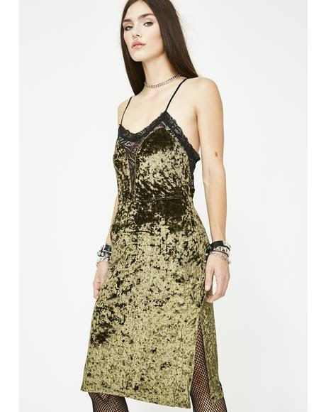 Dank Shut Up Kiss Me Velvet Dress