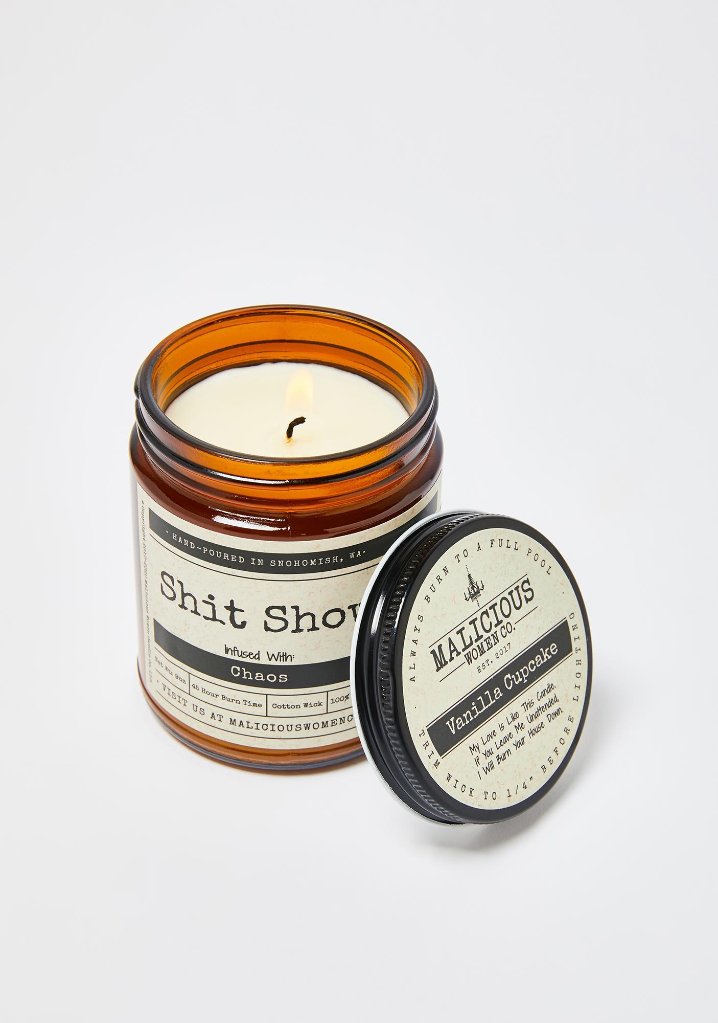 Malicious Women Company Shit Show Vanilla Cupcake Candle