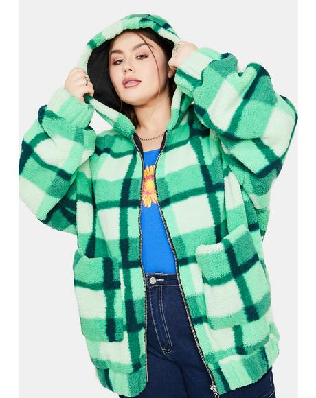 So Funky N' Fresh Plaid Teddy Jacket