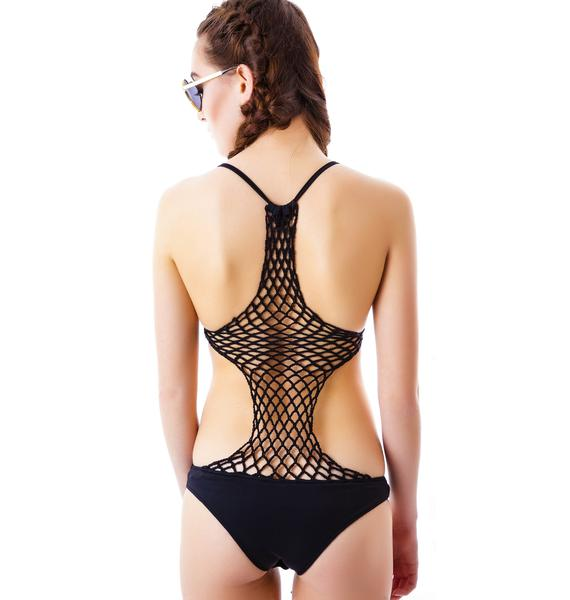 Caught In Yer Net Bodysuit