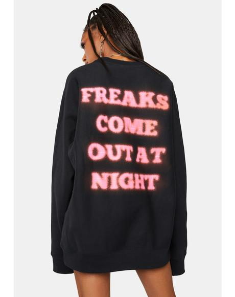 Freaks Premium Graphic Crewneck