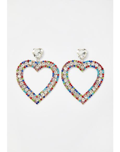 Treasured Forever Heart Earrings
