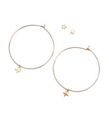 Starry Nite Hoop Earrings