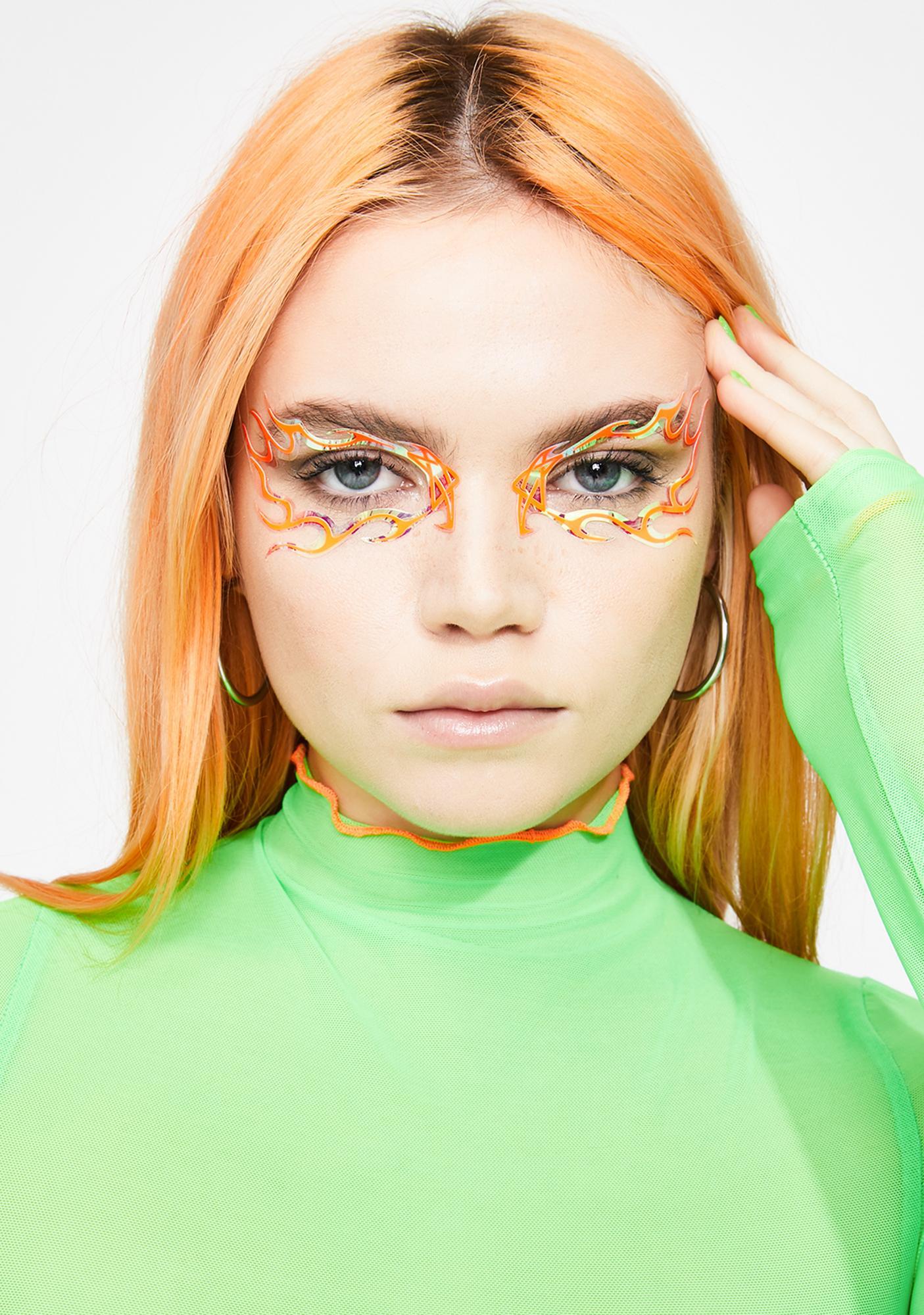 Face Lace Blaze Gaze Eye Stickers
