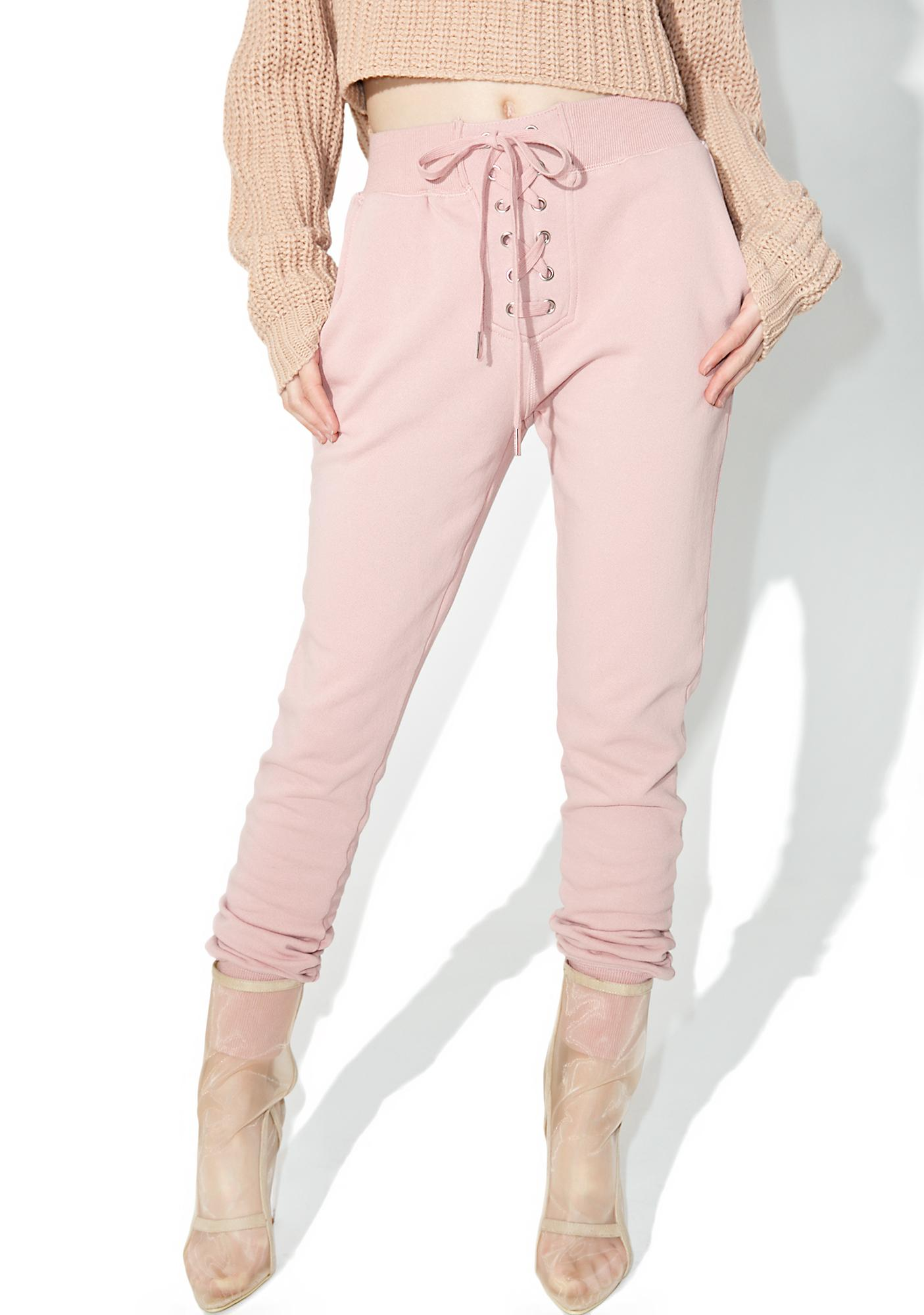 Kick Back Lace-Up Sweatpants