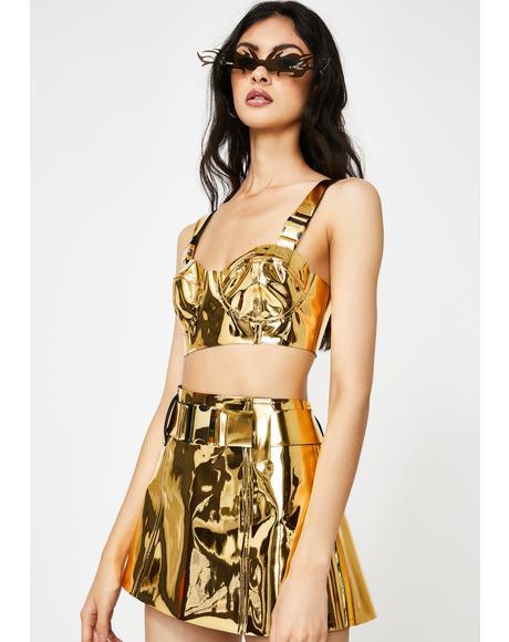Golden Runner Mini Skirt