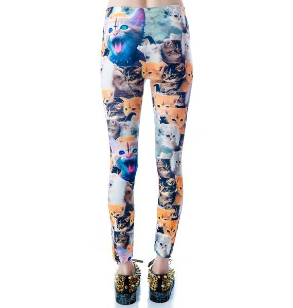 Abandon Ship Apparel Krazy Kittens Leggings