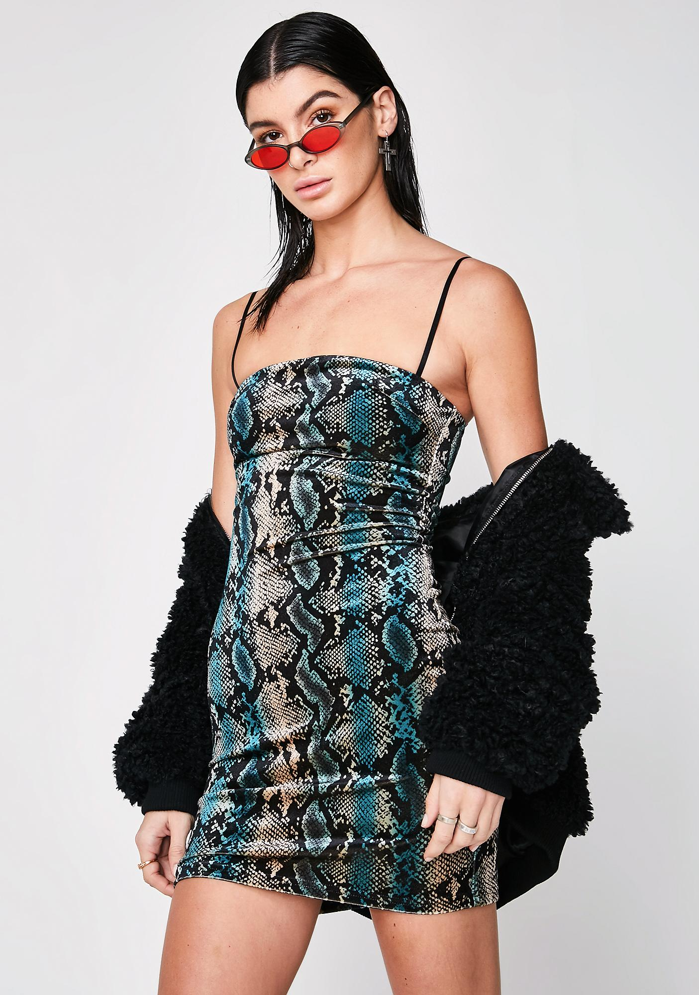 I AM GIA Snakeskin Devon Dress
