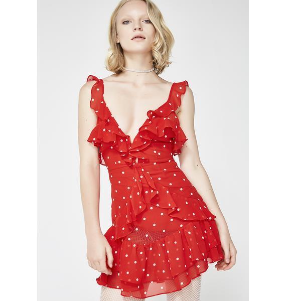 For Love & Lemons Analisa Polka Red Dot Tank Dress