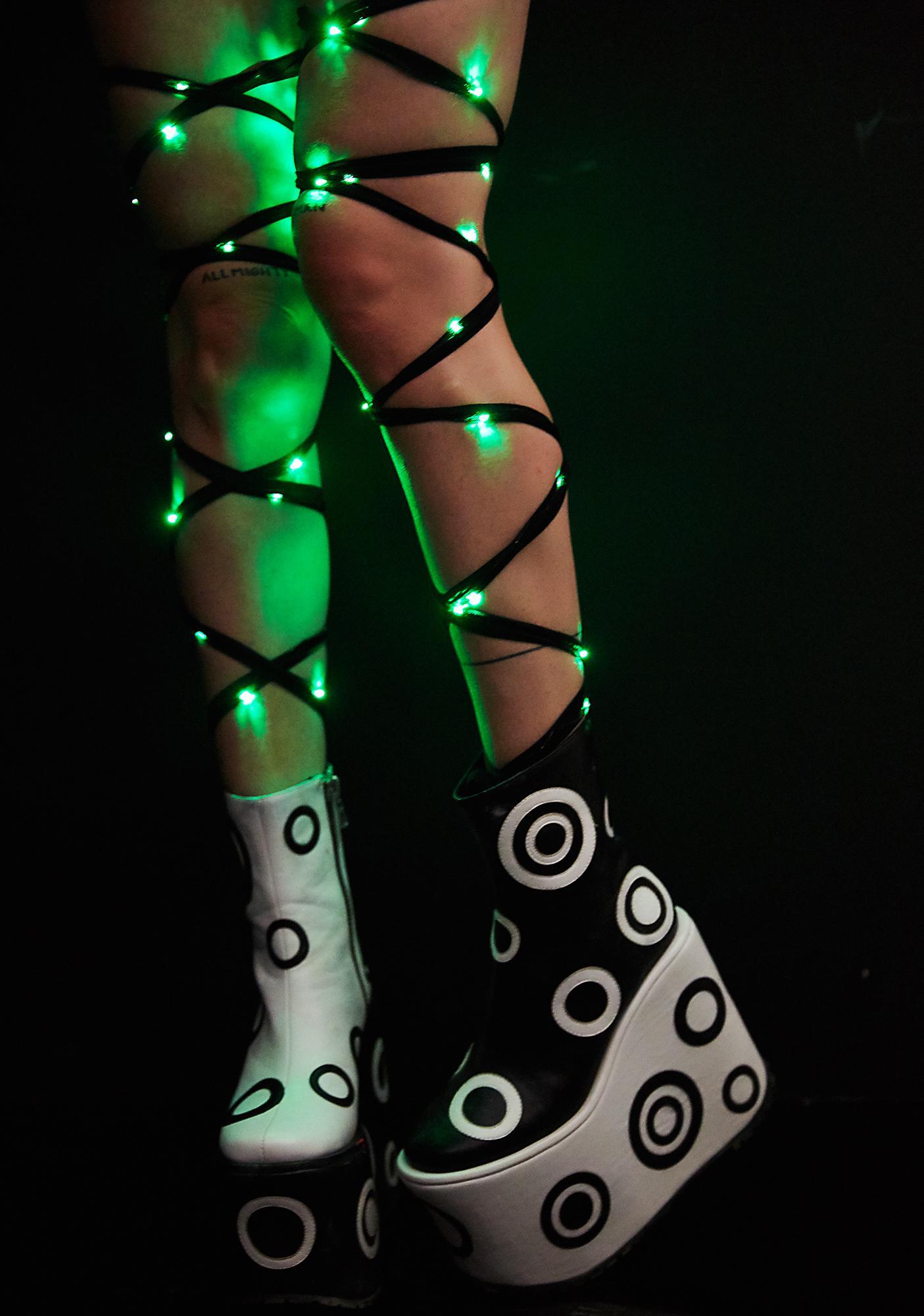 J Valentine Emerald City Light-Up Leg Wraps