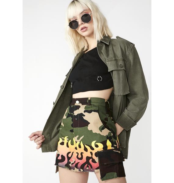 Cute Mistake Formation Skirt