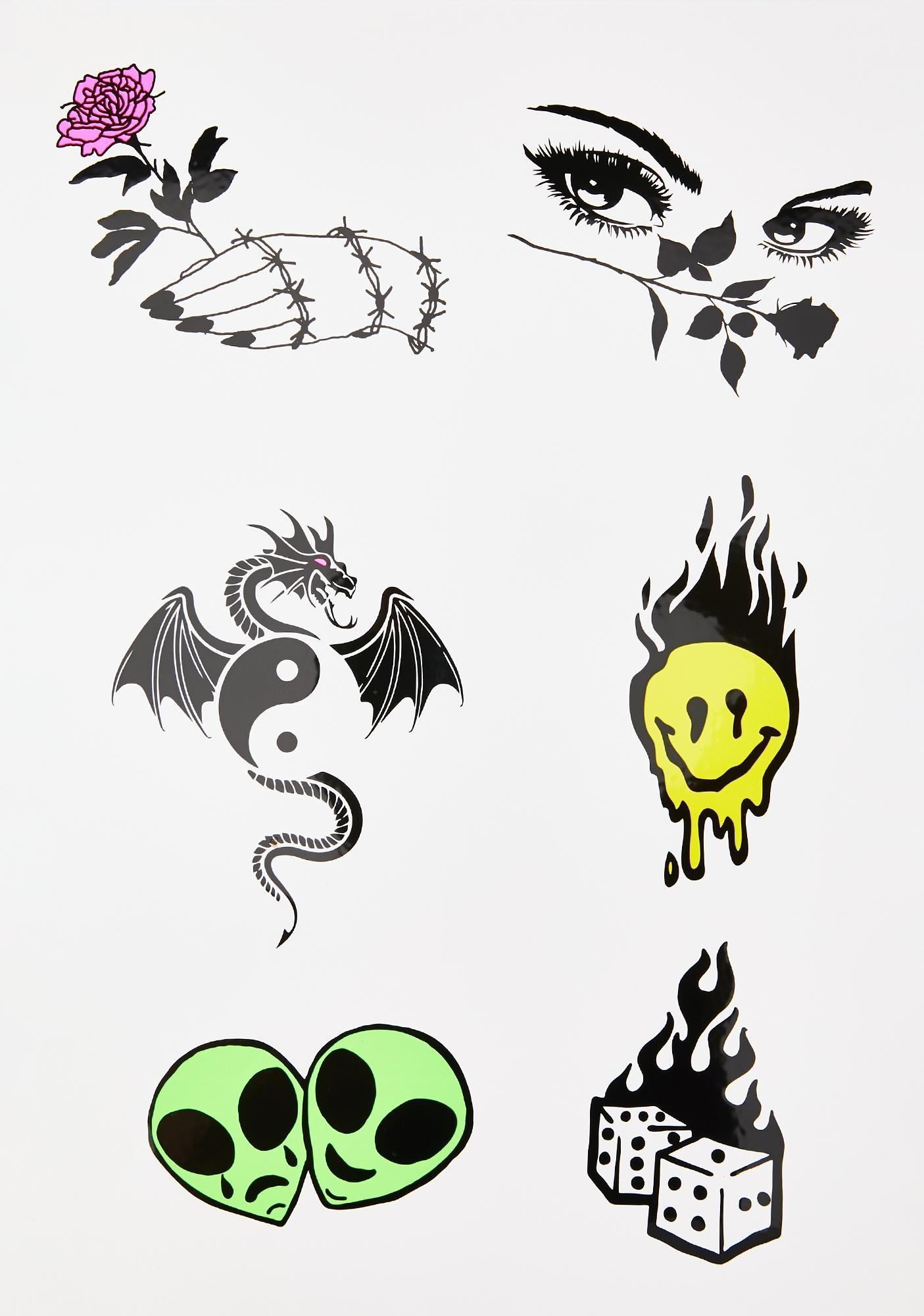 Lil Punk Temporary Tattoos by