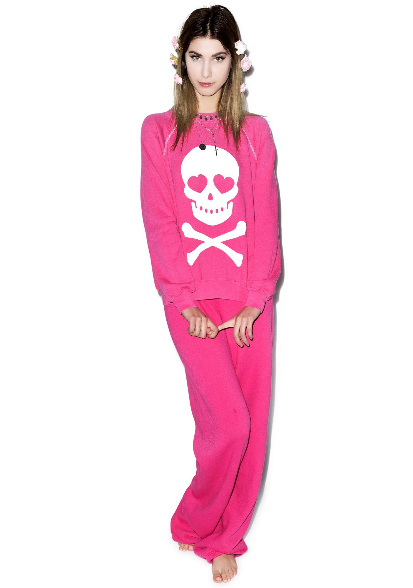 Wildfox Couture Love Bones Kim's Sweater