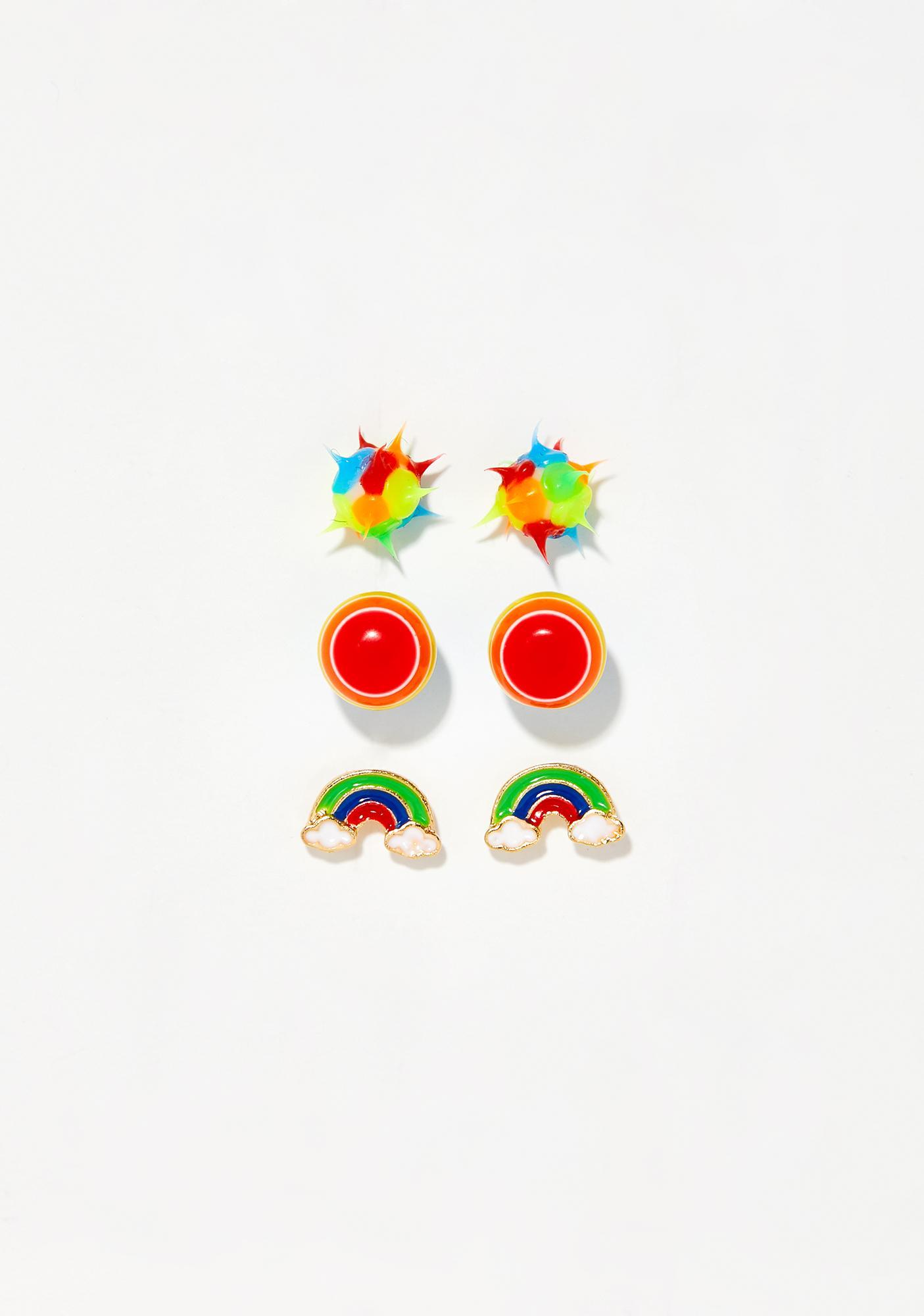 Ravin' Rainbow Earring Set