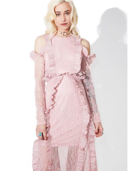 Tribute Ruffled Maxi Dress