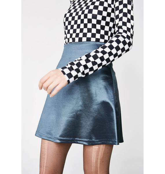 American Deadstock X Internet Girl Software Satin Mini Skirt
