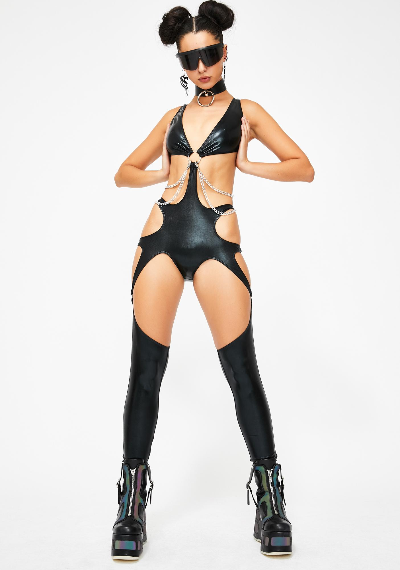 Club Exx Adrenaline Rush Cut-Out Catsuit