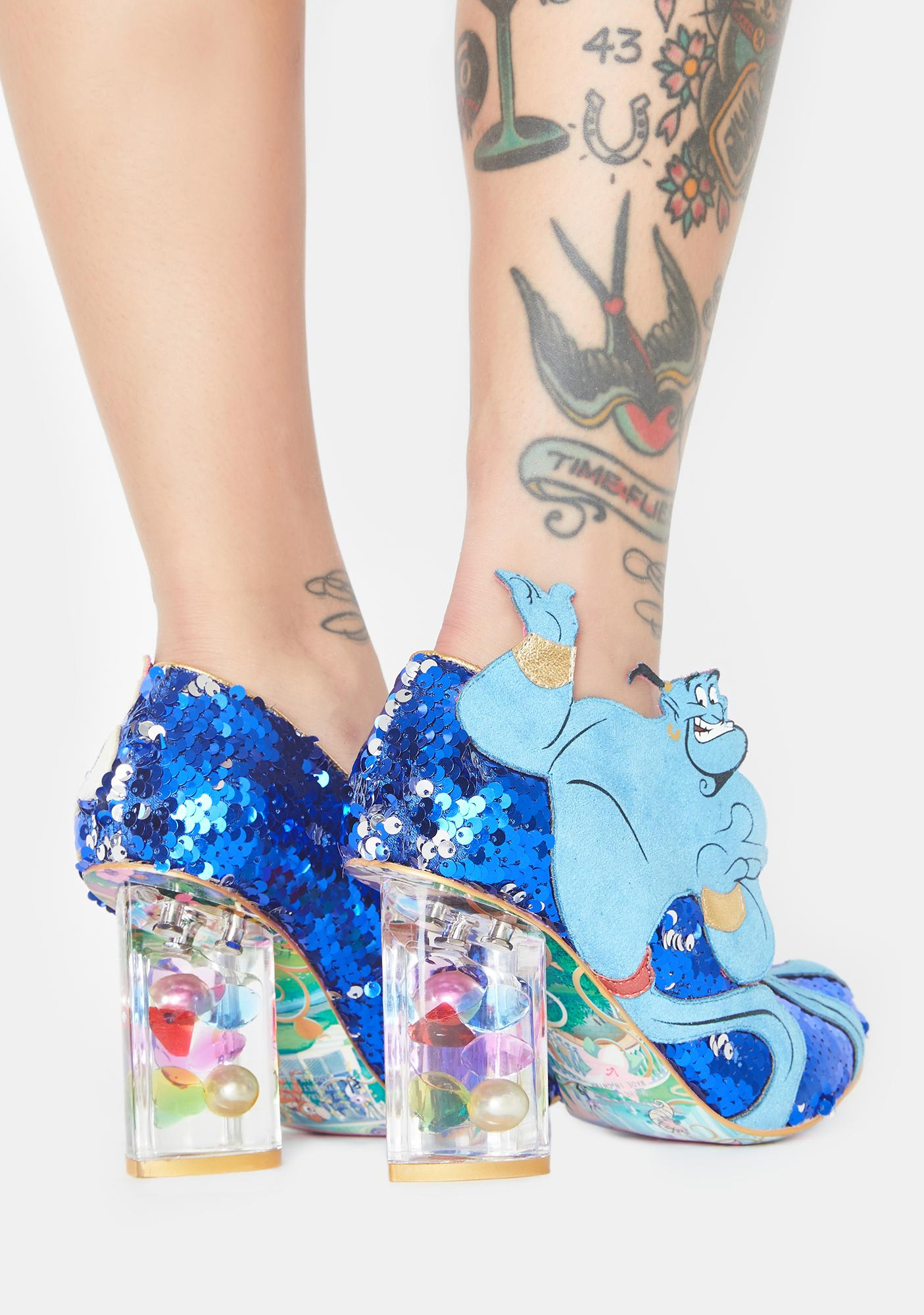 Irregular Choice You Rubbed Sequin Heels