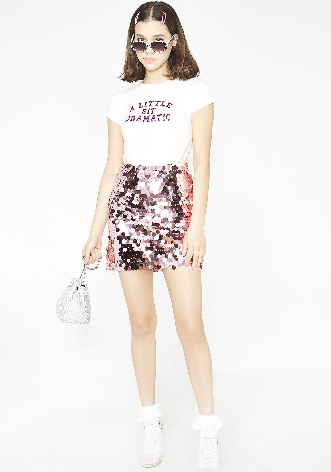 Glamorous Bling Blaww Burr Mini Skirt