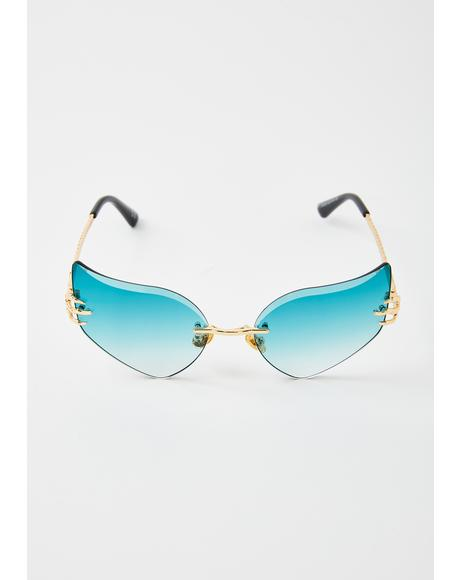 Ocean Celestial Sass Cat-Eye Sunglasses
