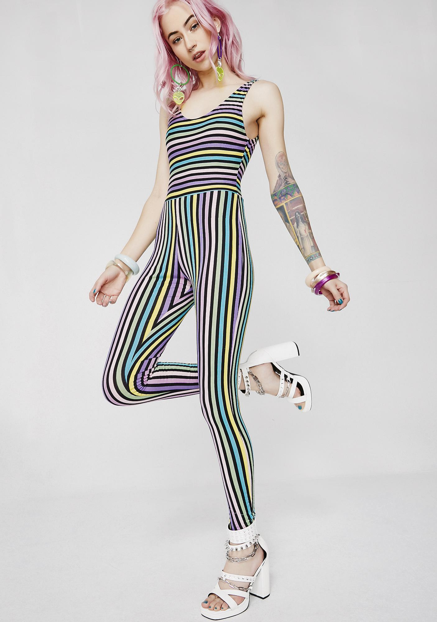 Motel New Stripe Unitard