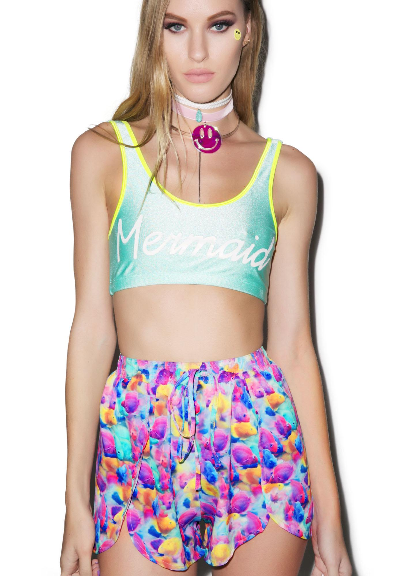 Hot!MeSS Under The Sea Chiffon Scallop Shorts