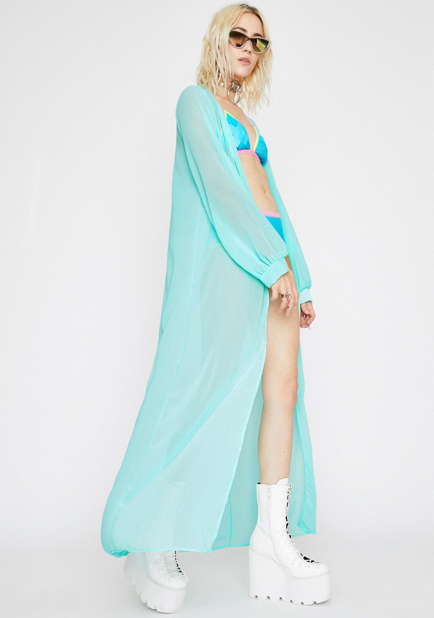 Sky Goodnight Goddess Sheer Kimono
