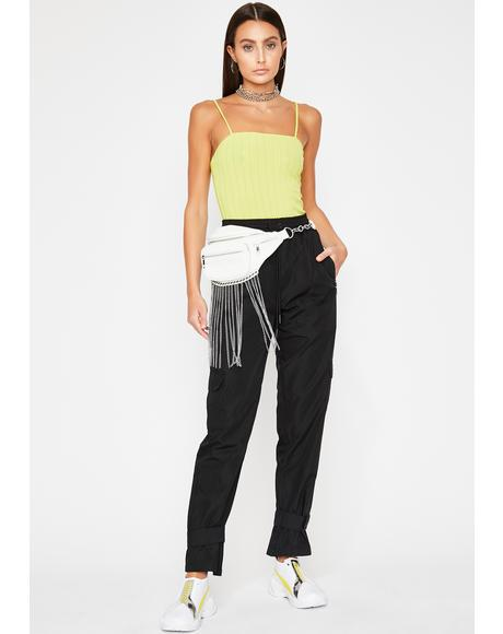 Lime Bad Idea Cami Bodysuit