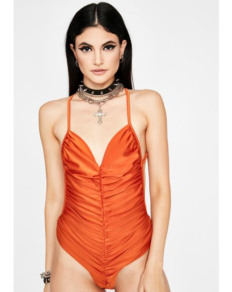 Vibe Check Ruched Bodysuit