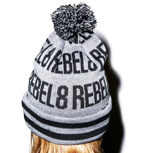 Rebel8 Pom Beanie
