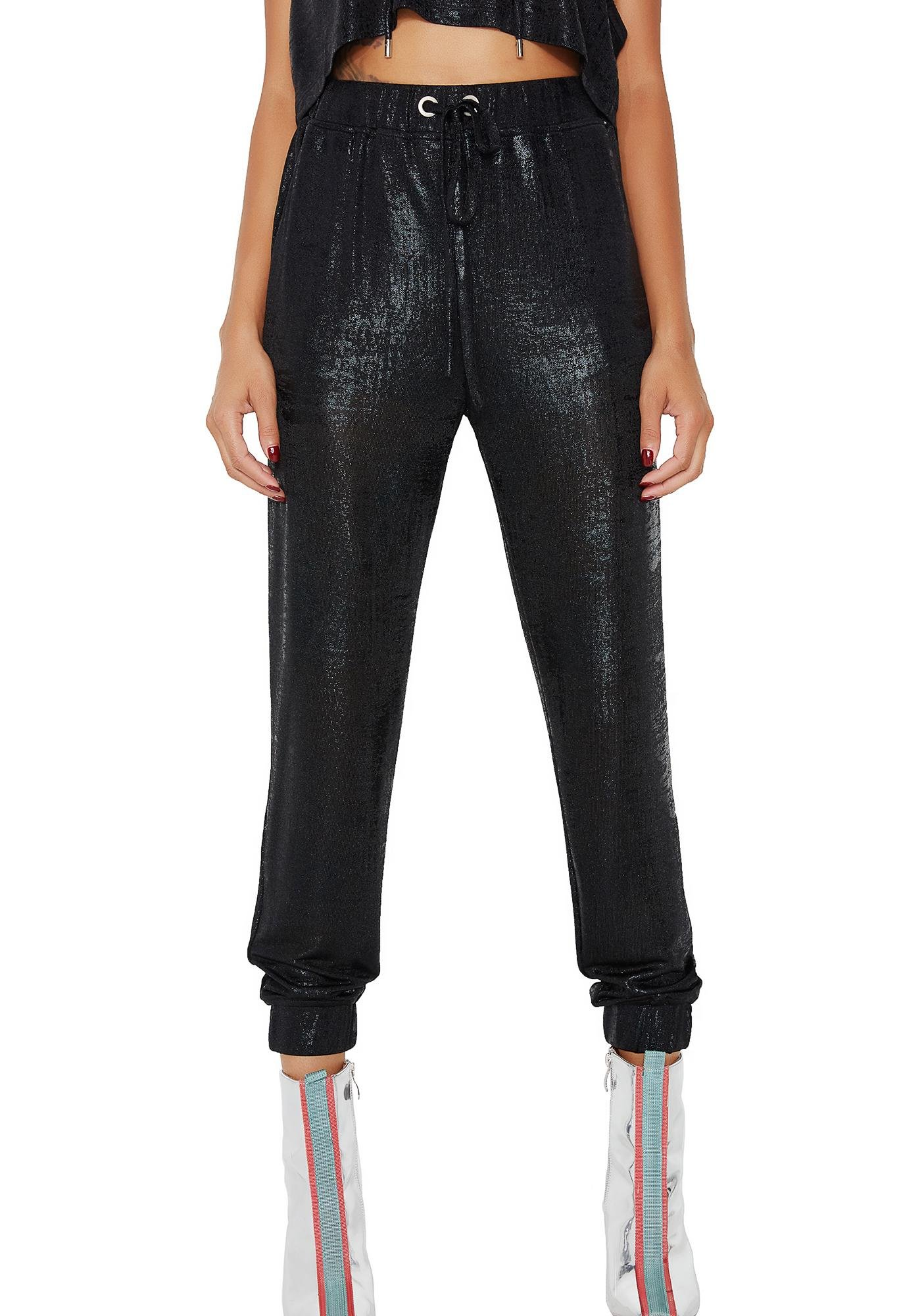 Onyx Got To Shine Metallic Joggers