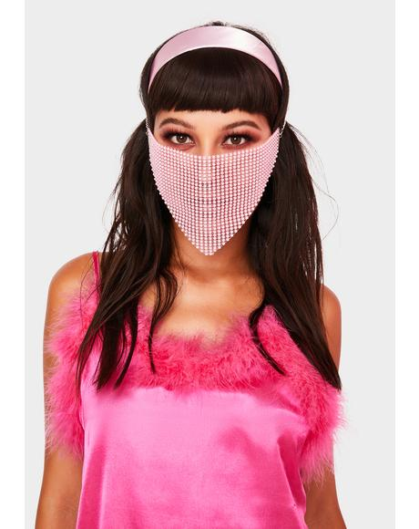 Pretty Protection Rhinestone Face Mask