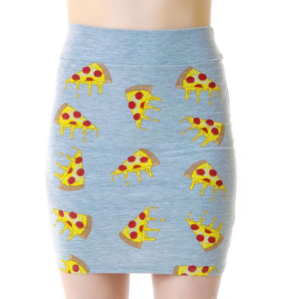 Melting Pizza Dots Mini Skirt