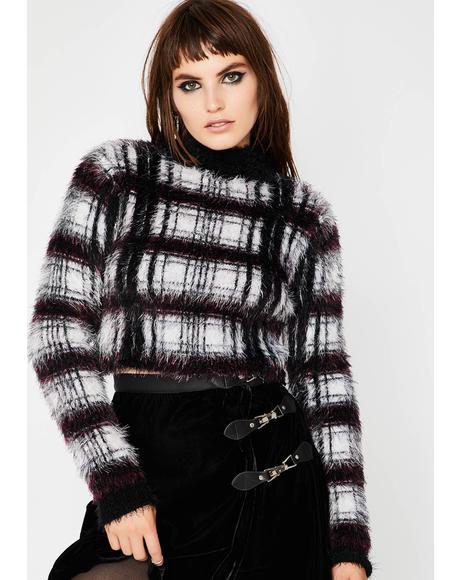 Playin' Tricks Fuzzy Sweater