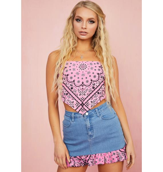 Sugar Thrillz Candy Bandit Denim Skirt