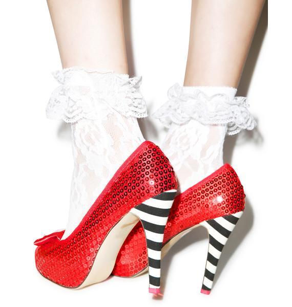 Iron Fist Ruby Slipper Peep Toe Platform Heels