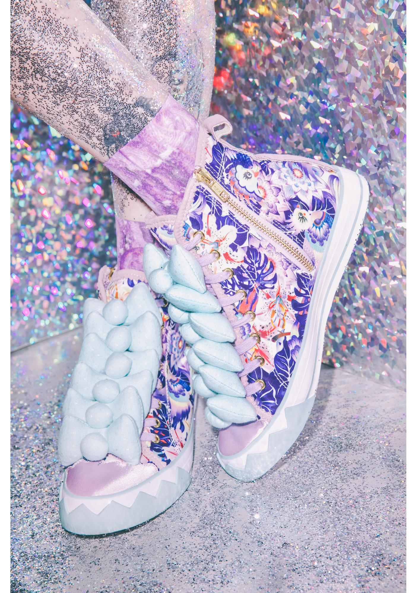 Irregular Choice Bow Ta Fly Paradise Sneakers