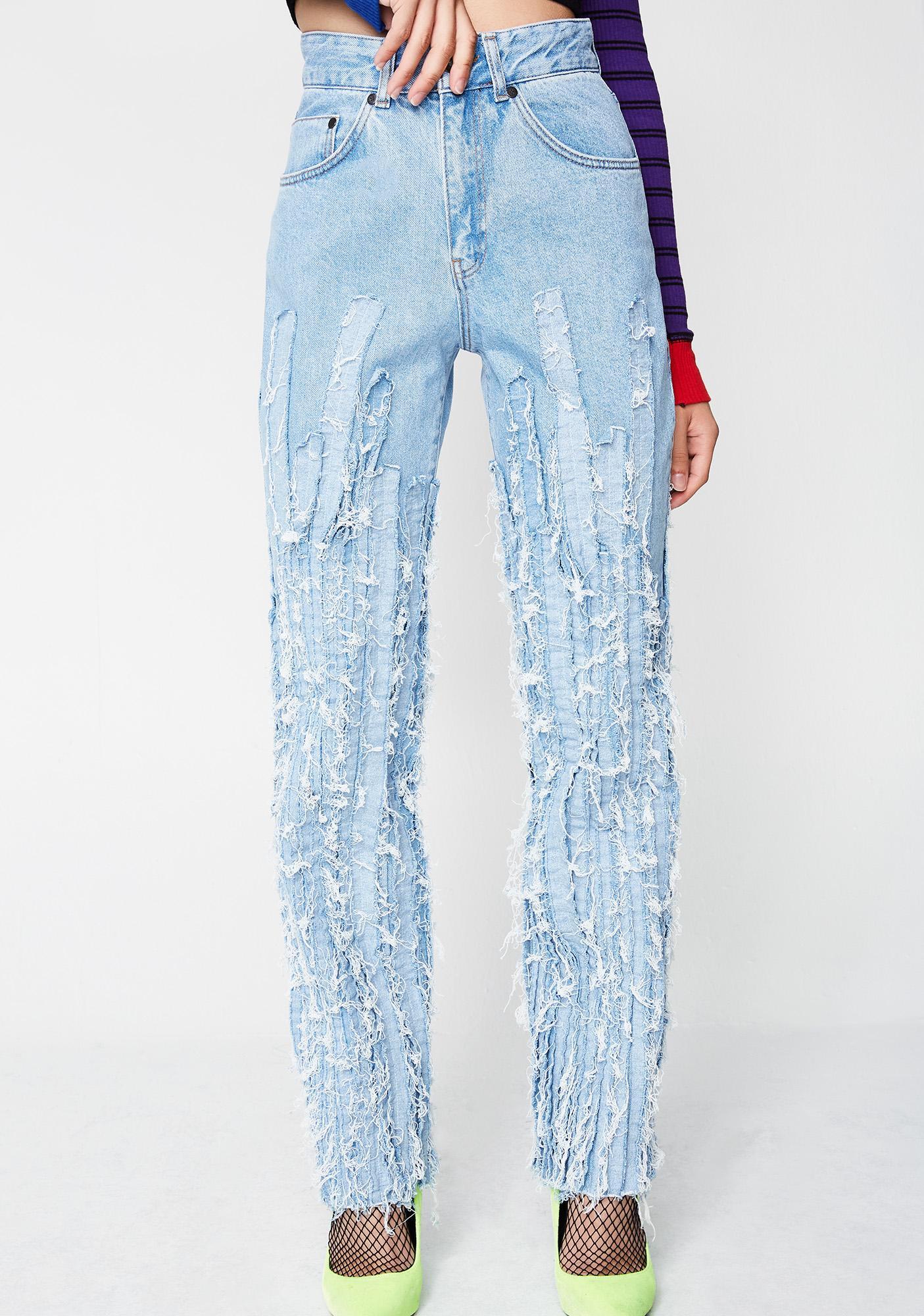 The Ragged Priest Strip Jeans