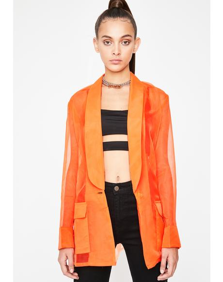 Bizness Model Organza Blazer