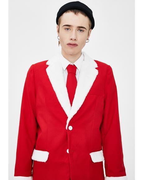 Furry Santa Oversized Blazer