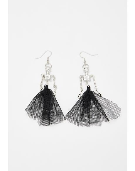 Corpse De Ballet Skeleton Earrings