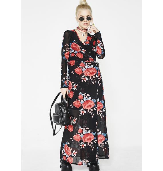 Mystic Rose Wrap Dress