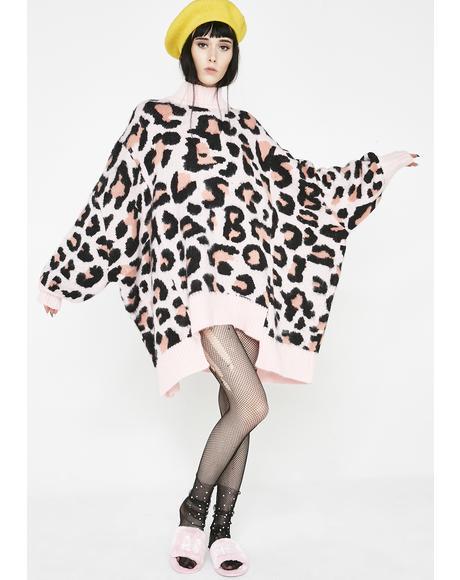 LSB Original Leopard Bomber Knit Dress