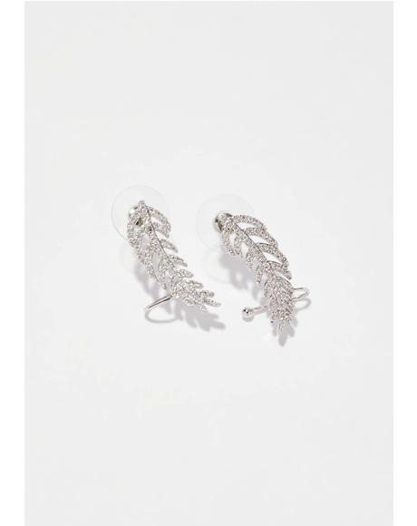 Fly By Rhinestone Ear Cuffs