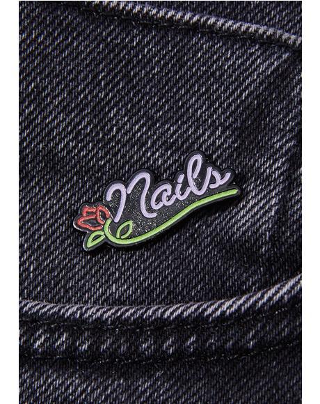 Neon Nails Pin